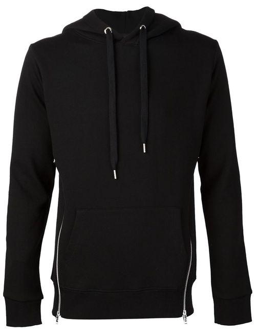 99 IS | Мужское Чёрный 99 Is Zip Detail Hoodie