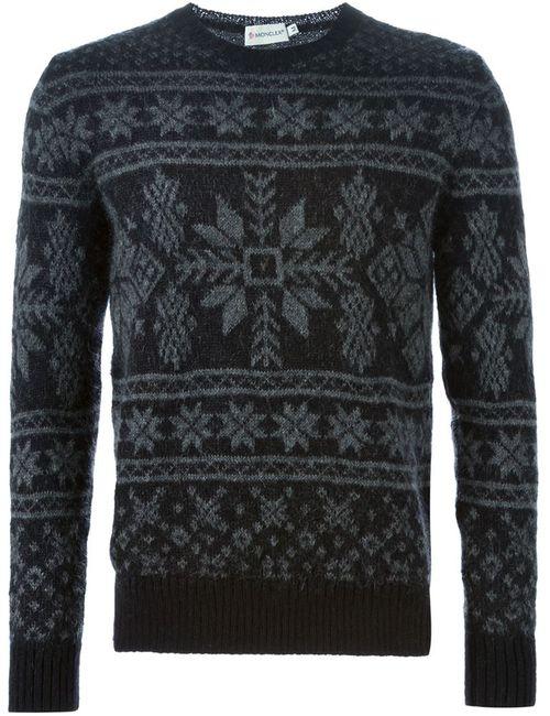 Moncler | Мужское Чёрный Fair Isle Sweater