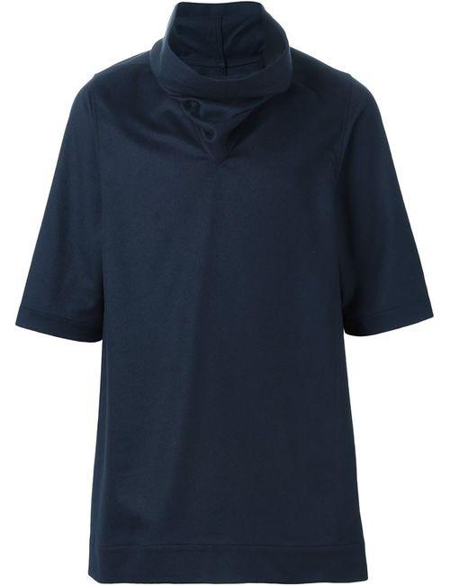 Rick Owens | Мужское Синий Funnel Neck Knit Top