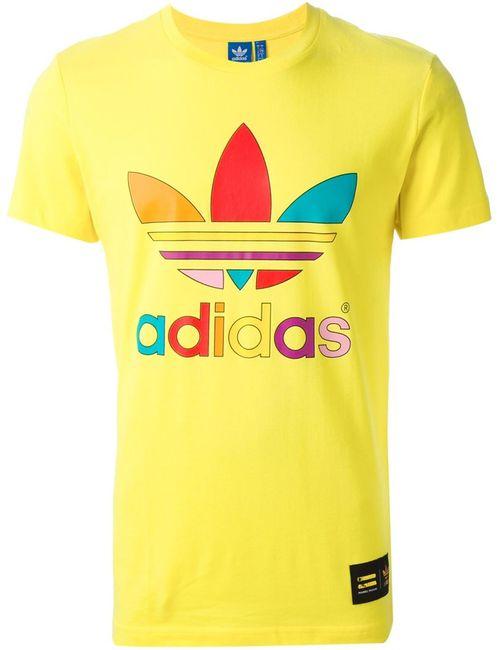 adidas Originals | Мужская Жёлтая Футболка Supercolour