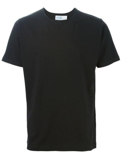 Comme Des Garcons | Мужская Чёрная Футболка Comme Des Garçons Shirt X Sunspel