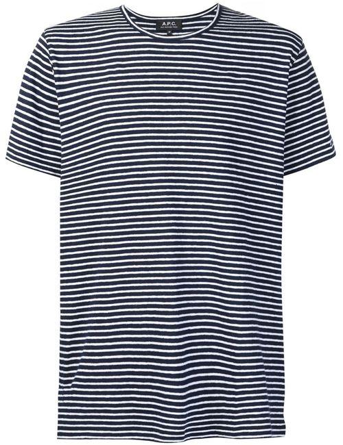A.P.C. | Мужское Синий Striped T-Shirt