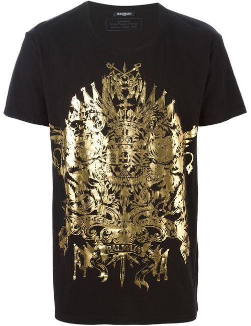 Balmain   Мужское Lion Print T-Shirt