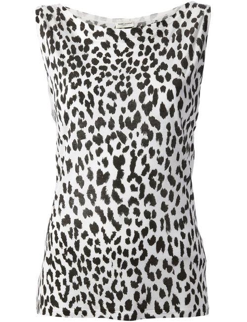 Saint Laurent | Женское Белый Leopard Print Vest Top