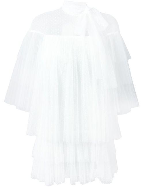 Valentino   Женская Белая Прозрачная Блузка С Бантом