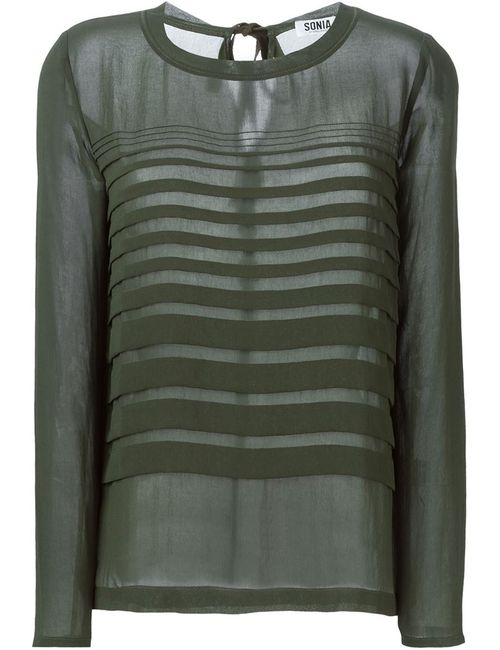 Sonia By Sonia Rykiel | Женская Зелёная Плиссированная Блузка