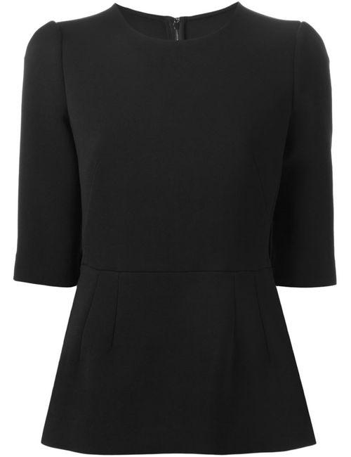 Dolce & Gabbana | Женское Чёрный Peplum Hem Top