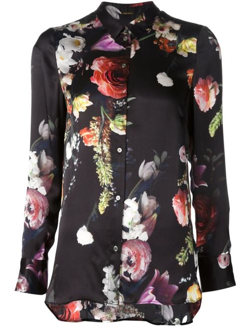 Adam Lippes | Женская Чёрная Рубашка С Цветочным Принтом