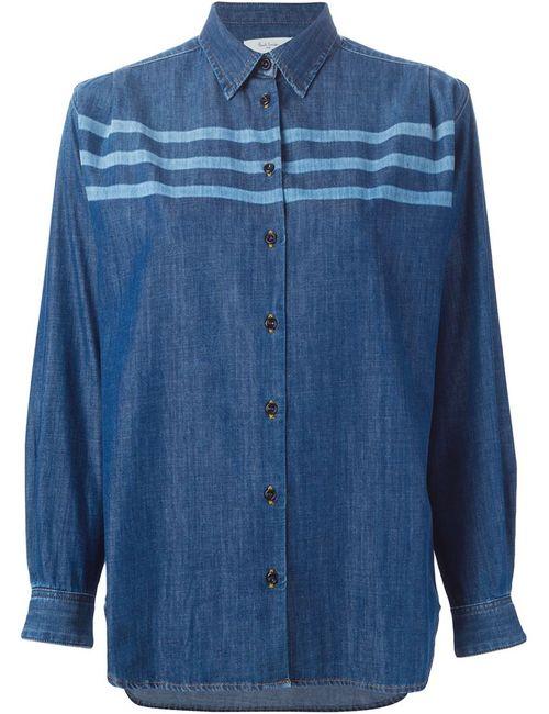 Paul By Paul Smith | Женская Синяя Джинсовая Рубашка В Полоску