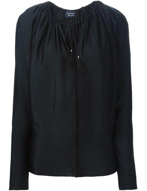 Lanvin | Женская Чёрная Блузка С Кисчтоками