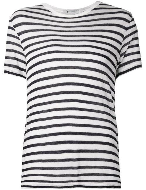 T By Alexander Wang | Женское Черный Striped T-Shirt