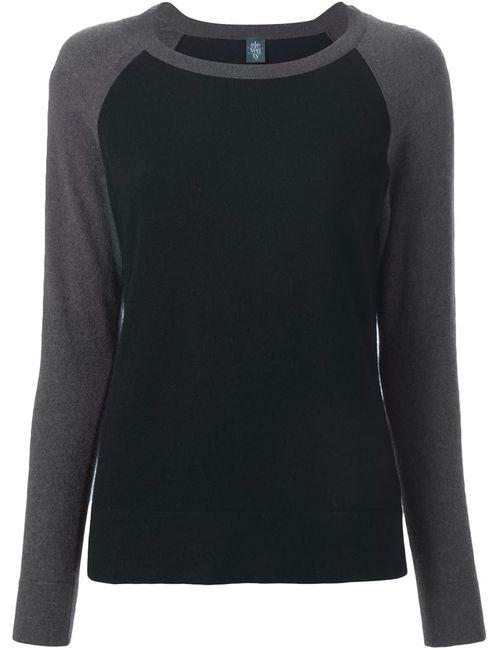 Eleventy | Женское Серый Contrasting Raglan Sleeves Sweater