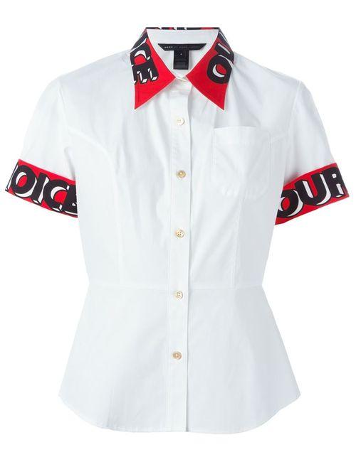 Marc by Marc Jacobs | Женская Белая Рубашка С Короткими Рукавами