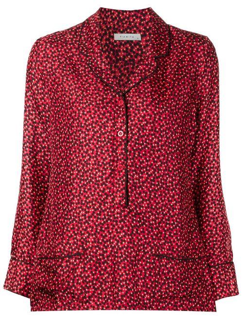 Piamita | Женская Красная Блузка С Принтом