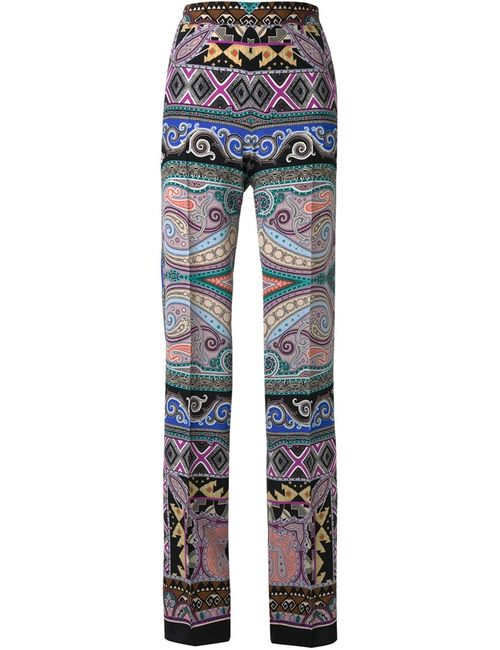 Etro | Женское Многоцветный Paisley Straight Trousers