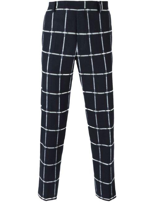 MSGM | Синий Grid Print Trousers
