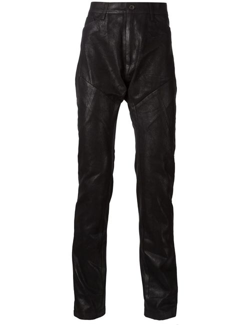 JULIUS | Чёрный Waxed Effect Paneled Trousers