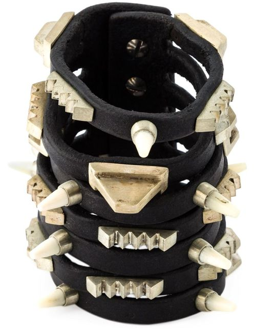 Rick Owens | Женское Чёрный Studded Bracelet