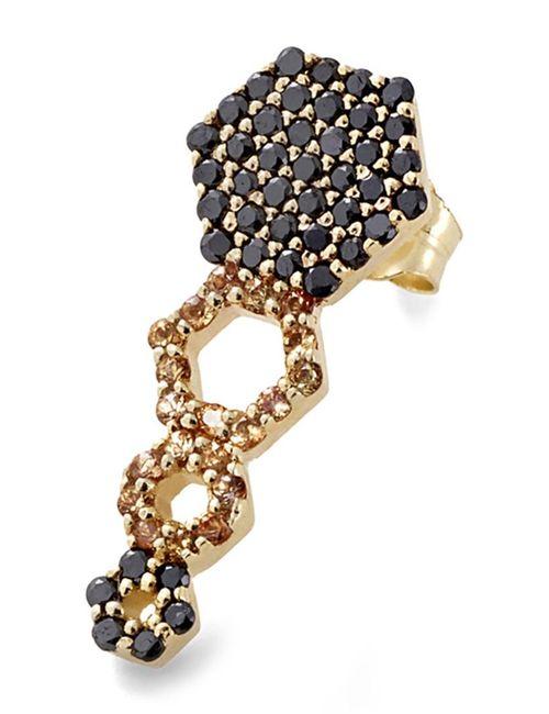 ALISON LOU | Женское Желтый Sapphire And Diamond Honeycomb Drop Earrings