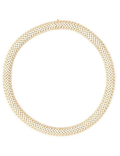 Saint Laurent | Женское Серебристый Popcorn Chain Necklace