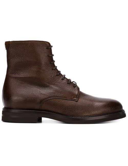 Brunello Cucinelli   Мужские Коричневые Ботинки На Шнуровке