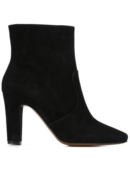 L' Autre Chose | Женские Чёрные Ботинки По Щиколотку На Массивном Каблуке