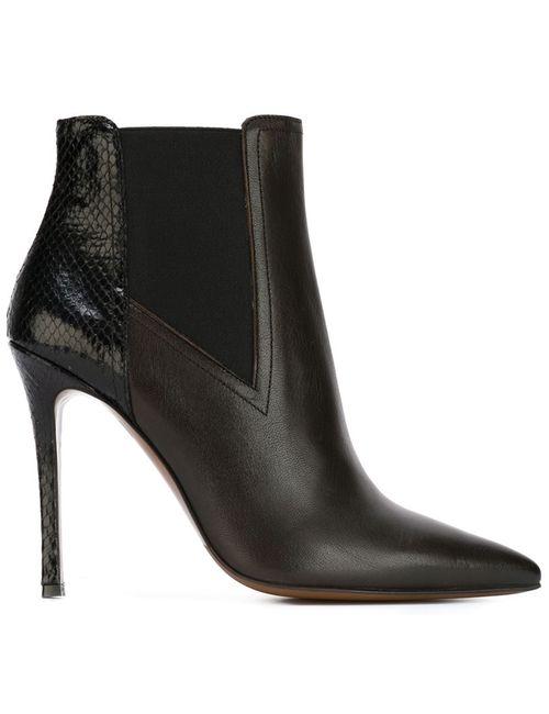 L' Autre Chose | Женские Чёрные Ботинки По Щиколотку На Шпильке