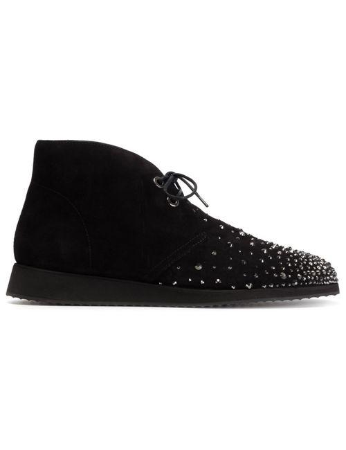 Giuseppe Zanotti Design | Мужские Чёрные Декорированные Ботинки-Дезерты