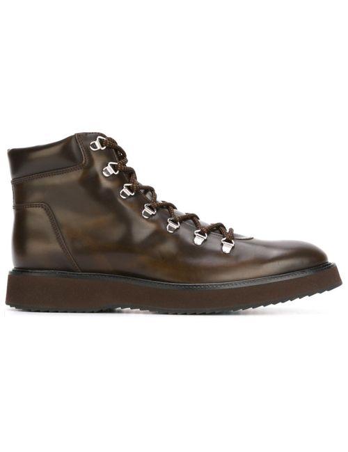 Hogan | Мужские Коричневые Ботинки На Шнуровке