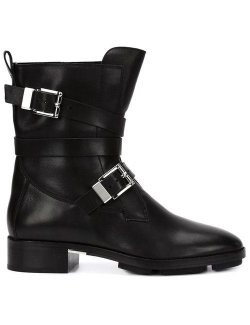 Alexander Wang | Женские Чёрные Байкерские Ботинки С Пряжками