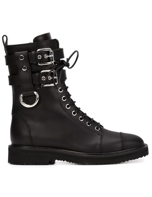 Giuseppe Zanotti Design | Черный Buckled Combat Boots