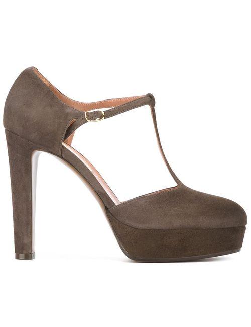 L' Autre Chose | Женские Коричневые Туфли На Платформе