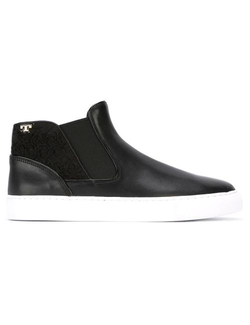Tory Burch | Женское Чёрный Logo Slip On Sneakers