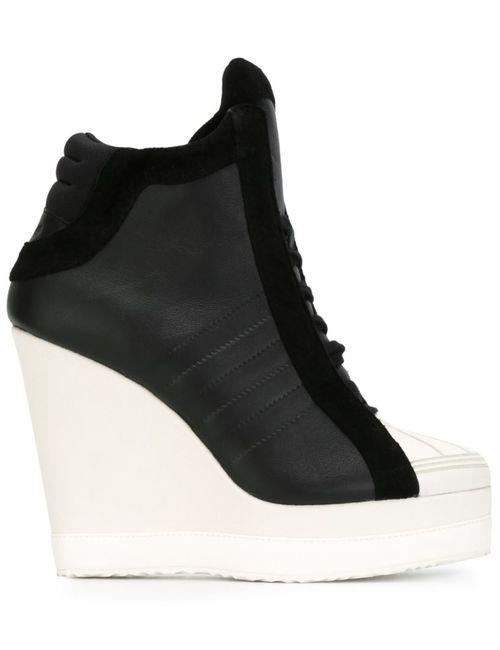 adidas Originals | Женские Чёрные Хайтопы На Танкетке
