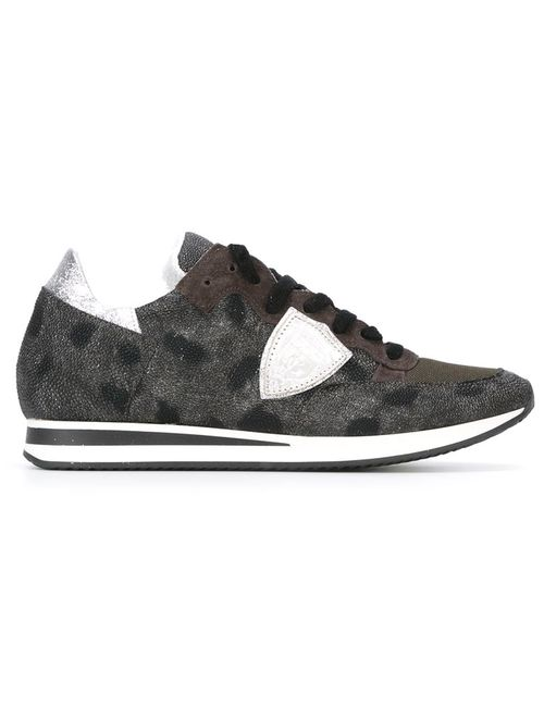 Philippe Model | Женское Чёрный Leopard Print Low-Top Sneakers