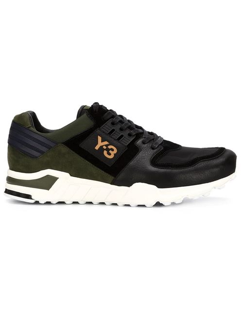 Y-3 | Мужское Чёрный Panelled Running Sneakers