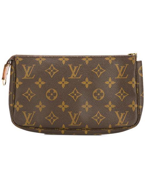LOUIS VUITTON VINTAGE | Женская Коричневая Сумка-Клатч С Логотипом