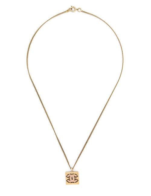 Chanel Vintage | Женское Желтый Logo Pendant Necklace