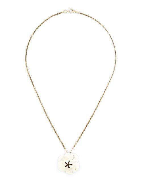 Chanel Vintage | Женское Белый Camelia Pendant Necklace