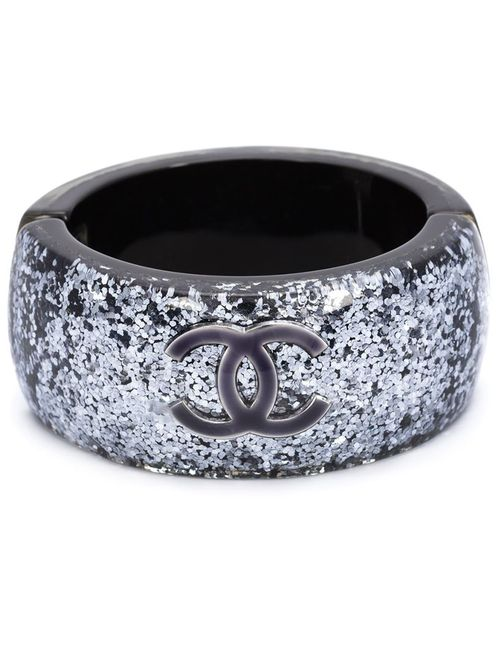 Chanel Vintage | Женские Серые Кафф С Блестящей Отделкой