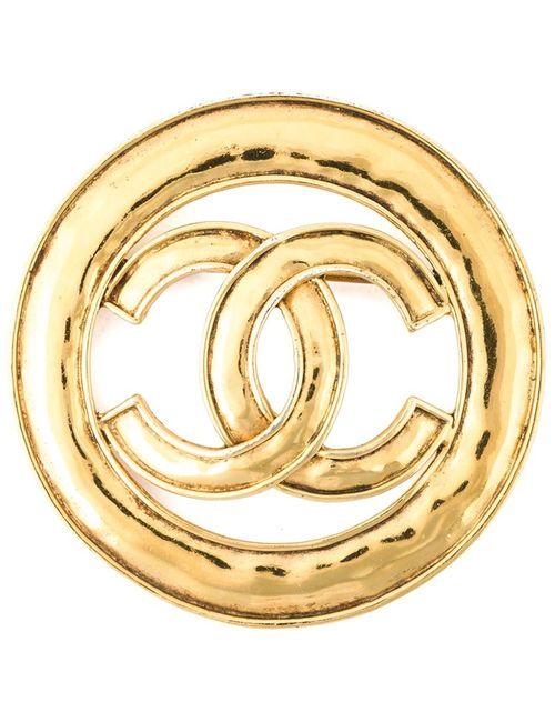 Chanel Vintage | Женская Серебристая Брошь С Логотипом