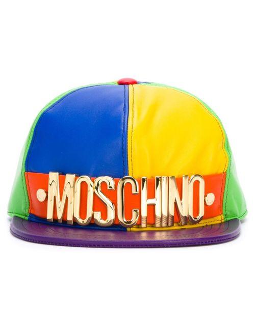 Moschino   Женская Многоцветная Бейсболка Колор-Блок