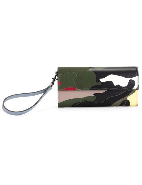 Valentino Garavani | Зелёный Camouflage Wallet