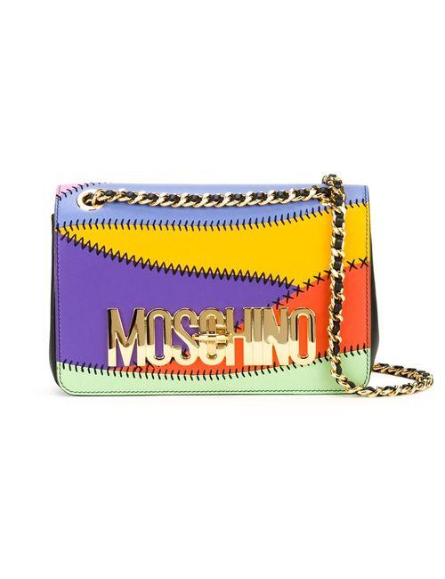 Moschino   Женская Многоцветная Сумка На Плечо С Логотипом