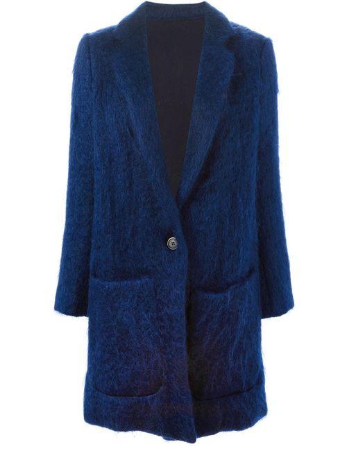 MSGM   Женское Синее Однобортное Пальто