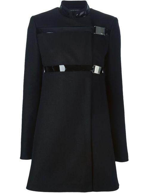 David Koma | Женское Чёрный Buckle Fastening Coat