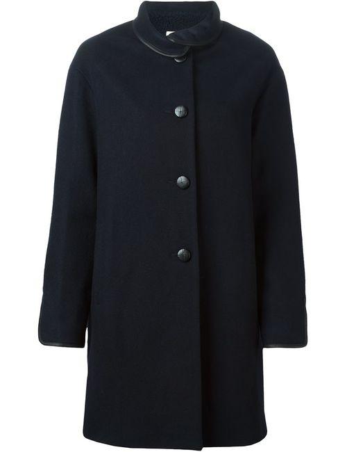 Sessun | Женское Синее Пальто Свободного Кроя