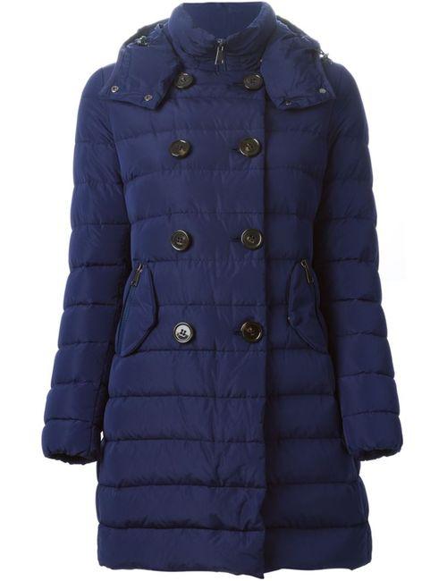 Moncler   Женская Синяя Дутая Куртка Garbet