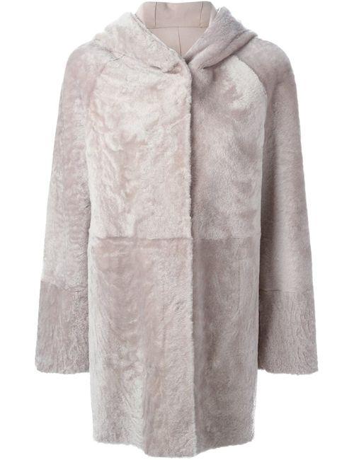 Drome | Женское Розовое Двухстороннее Пальто С Капюшоном