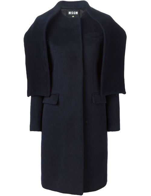 MSGM | Женское Синий Scarf Detail Tailored Coat